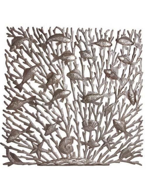Décoration murale en métal - poissons - La Galerie Equitable