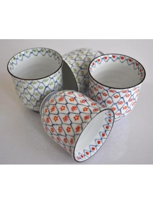Les 4 tasses à thé du Japon - La Galerie Equitable