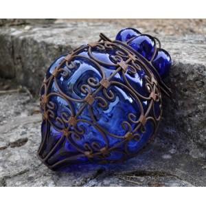 Lampe verre souffle bleue - La Galerie Equitable