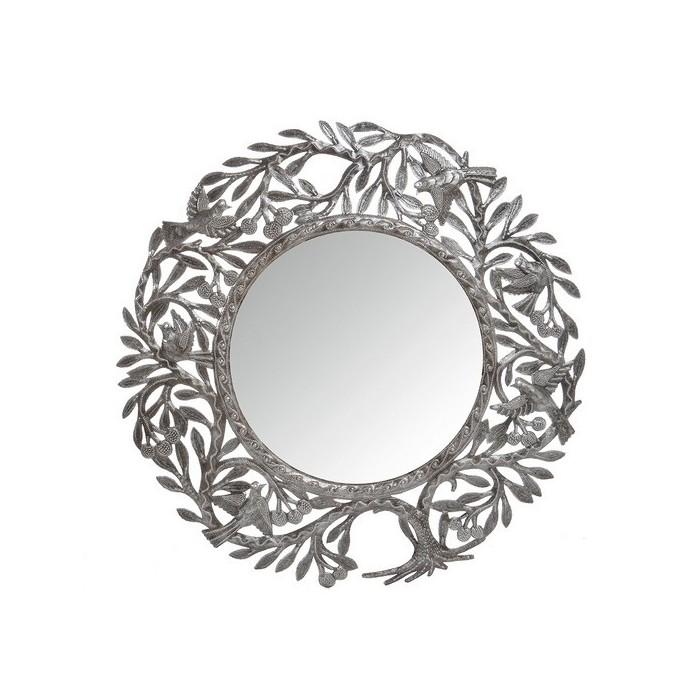 Miroir rond en métal sculpté - La Galerie Equitable