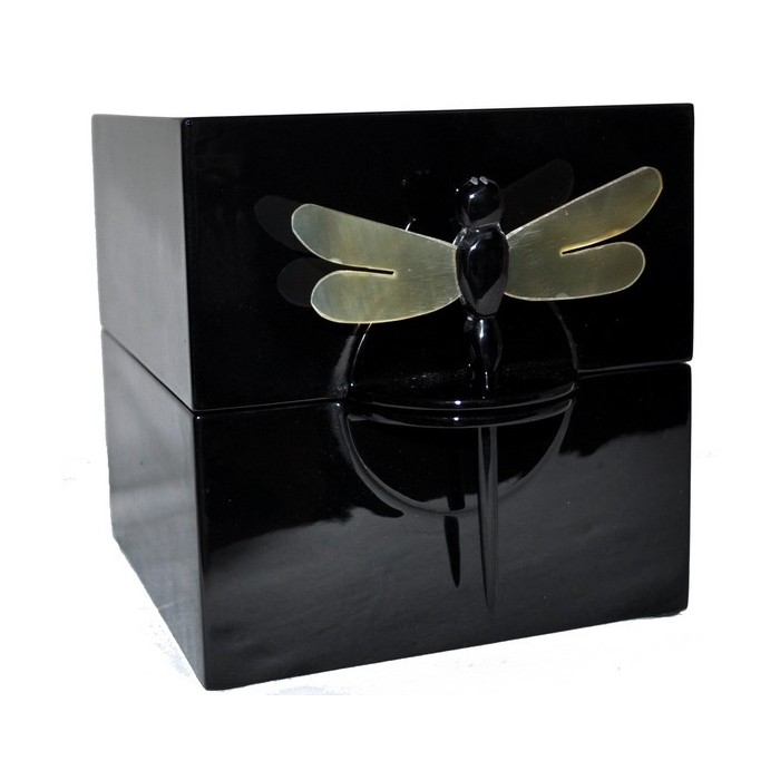 Boîte à bijoux laque noire - La Galerie Equitable