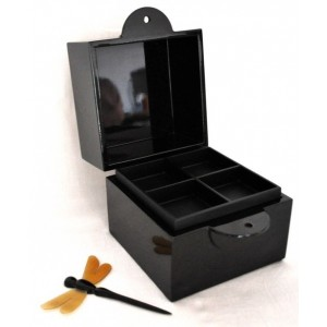 Boîte à bijoux laque noire