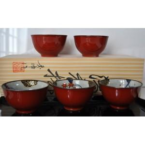 Coffret 5 tasses à thé du Japon - La Galerie Equitable