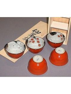 Coffret 5 tasses à thé - La Galerie Equitable