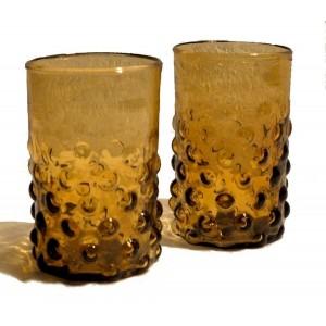 les 2 verres années 20 ambre - La Galerie Equitable
