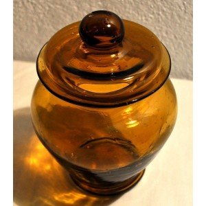 Bonbonnière pot à couvercle en verre - La Galerie Equitable