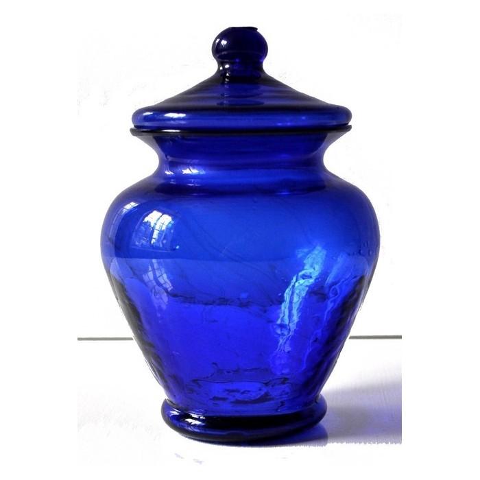 Bonbonnière, pot à couvercle en verre - La Galerie Equitable