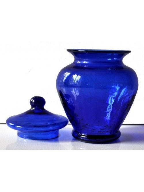 Bonbonnière bleue pot en verre - La Galerie Equitable