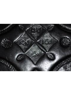 Grand coffret touareg en cuir - La Galerie Equitable