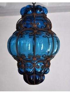Lampe Vénitienne Turquoise - La Galerie Equitable