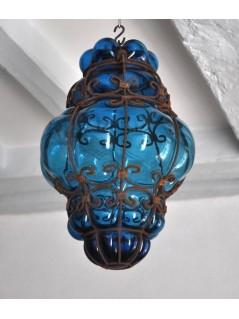 Lampe Vénitienne Turquoise Lanterne La Galerie Equitable