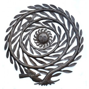 L' Arbre Soleil - Décoration murale en métal sculpté - La Galerie Equitable