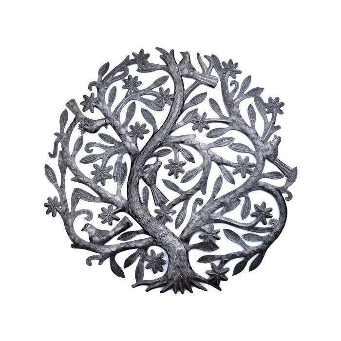 Arbre de vie en métal sculpté - Haïti - La Galerie Equitable