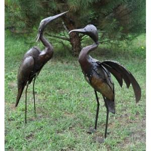 Aigrette et cormoran en métal pour le jardin - La Galerie Equitable