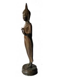 Statuette bouddha en bronze - La Galerie Equitable