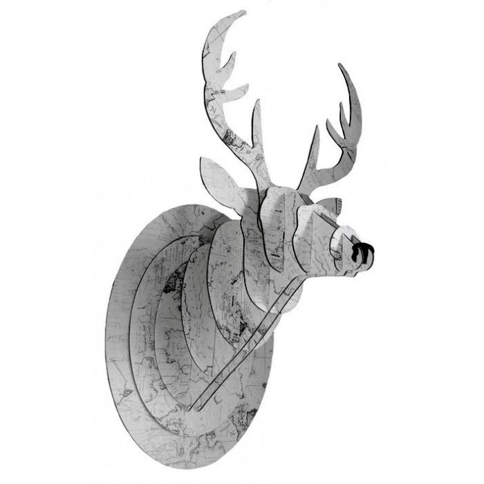 Trophée tête de cerf en carton - La Galerie Equitable