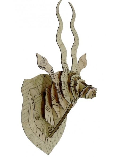 Trophée tête d'antilope Calligraphie