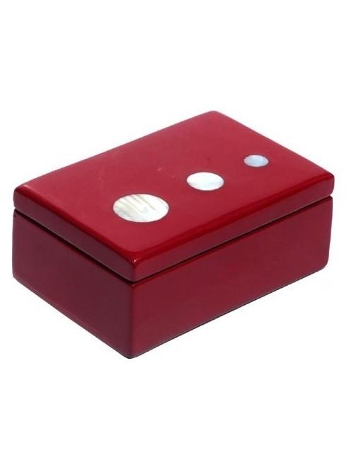 Petite boîte laque rouge et nacre - La Galerie Equitable