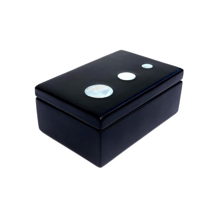 Petite boîte laque noire et nacre - La Galerie Equitable