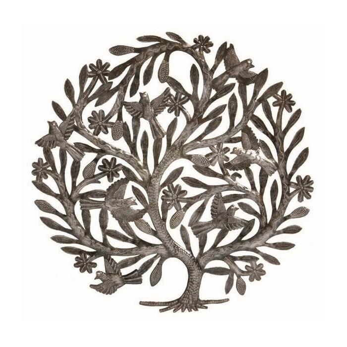Décor mural : l'arbre aux 7 oiseaux