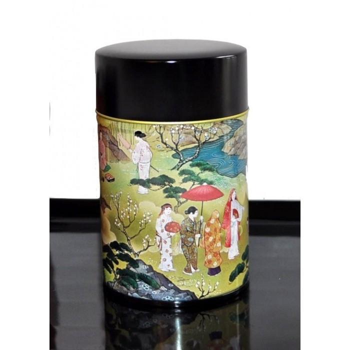 Boîte à thé décor traditionnel - La Galerie Equitable