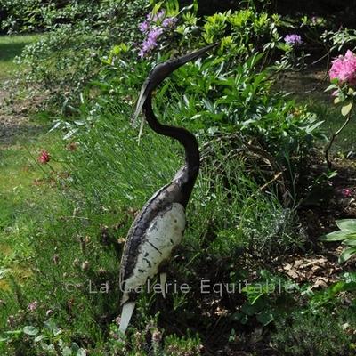 Objets de d coration oiseaux en m tal pour le jardin lampes bronzes - Oiseaux metal pour jardin ...